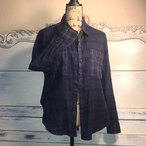 LUCKY BRAND Dark navy blue long sleeve